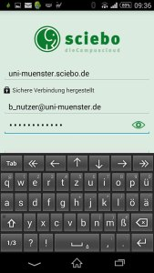Einblick in die Sciebo Android App