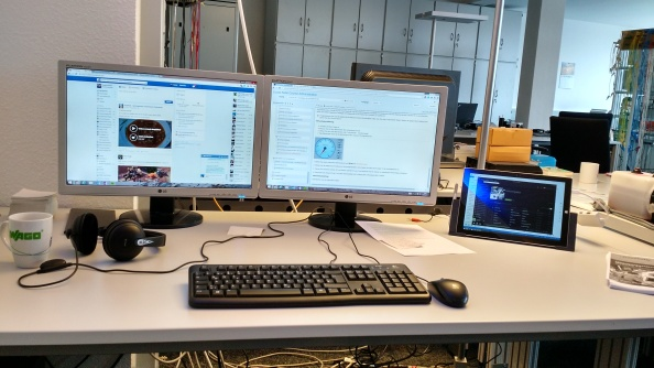 Mein Surface Pro 3 an meinem Arbeitsplatz