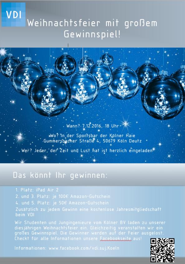 VDI Weihnachtsfeier undGewinnspiel